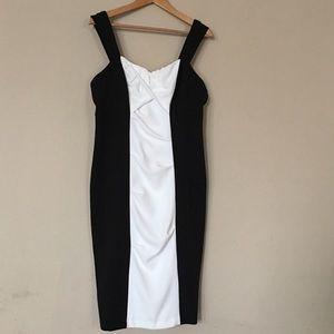 Msk black and white dress